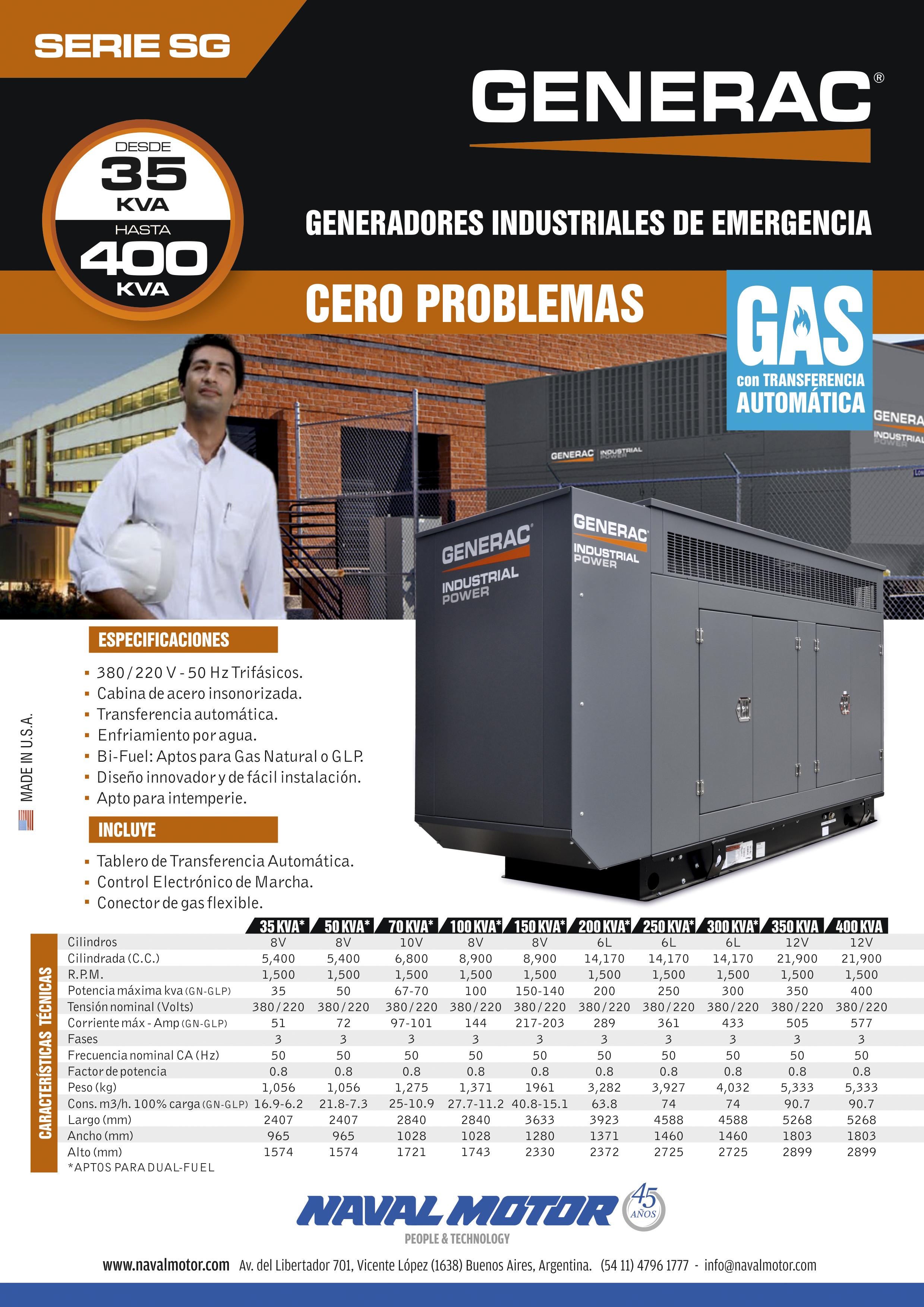 Generadores Industriales a Gas