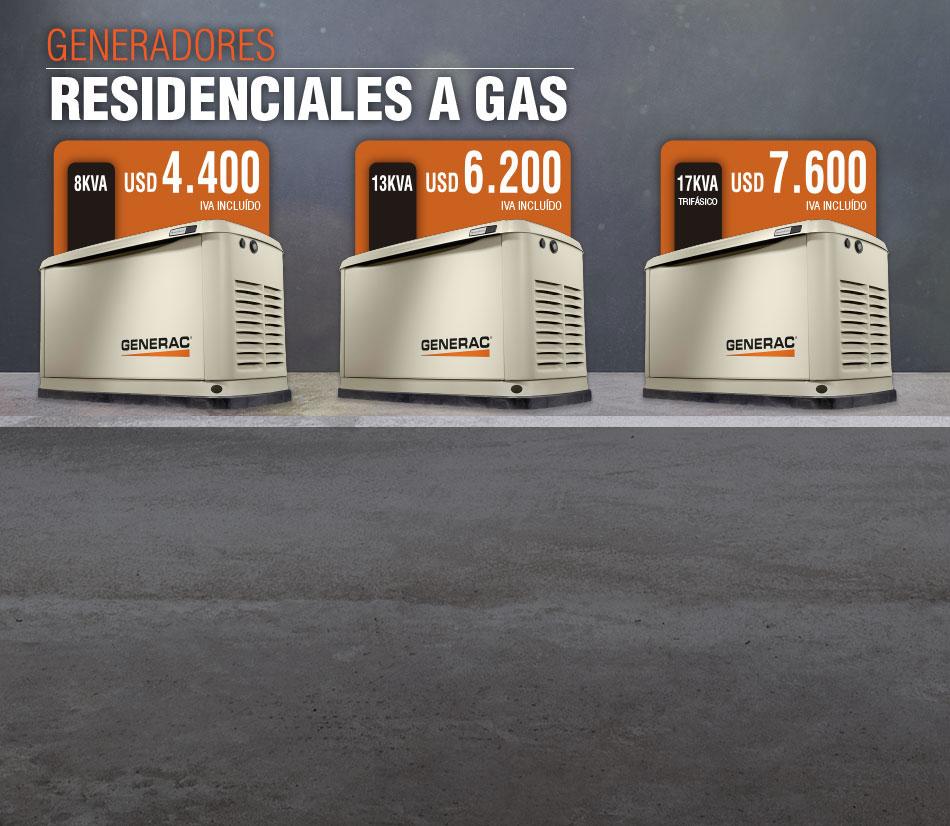 Promo Exclusiva: Generadores Residenciales a Gas